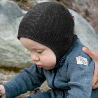 Merino wool hood