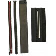 included items f.l.t.r: zip adapter, sew-in zipper, vertical edging, horizontal edging